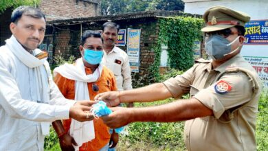 Branch manager and inspector gave message of saving environment by planting trees